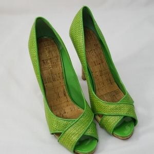 Nine West Green Heels